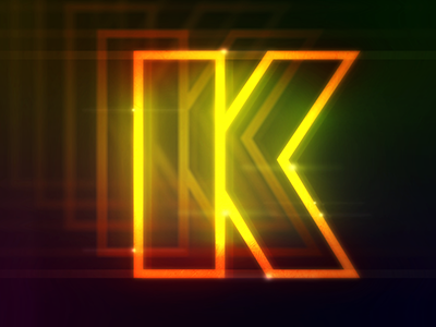 Brought to you by the letter K. retro letters motion graphics graphic design design typography type