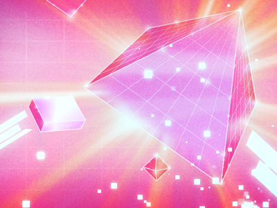retro pyramid style frames space future 80s geometric spacey pink retro graphic design motion design motion 3d design