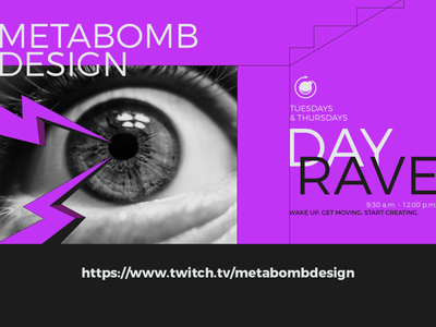 twitch title card promotion branding graphic design identity type rave design twitch
