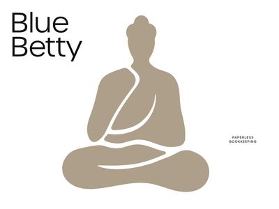 blue betty logo mark cutout sustainable organic logo
