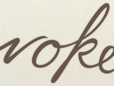 Evoke type design hand-lettering typography