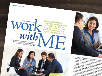 Work With Me layout design editorial