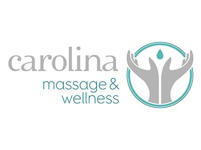 Carolina Massage & Wellness branding design logo identity massage