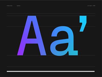 Fraktion Sans new specimen apostrophe gradient black font typeface typography type