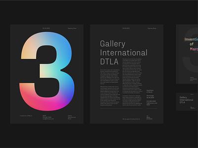 Fraktion Sans – Layout poster inktrap fictional layout gradient black design typeface font typography type