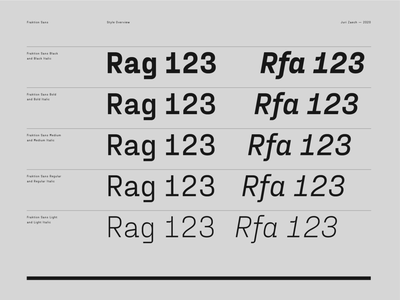 Fraktion Sans – Style Overview numbers specimen light regular medium bold weights italics grey black typeface font typography type