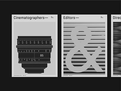 Fraktion Sans – Cover Layout camera lens ampersand cinematographer editor cover artwork cover blackandwhite typeface font typography type