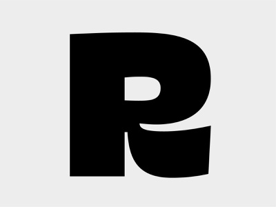 R black typeface font typography type