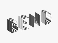 Bend Typeface