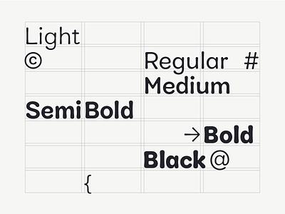 Cobbler Weights family layout swiss grid black  white bold font regular light design black alphabet typeface typography font type