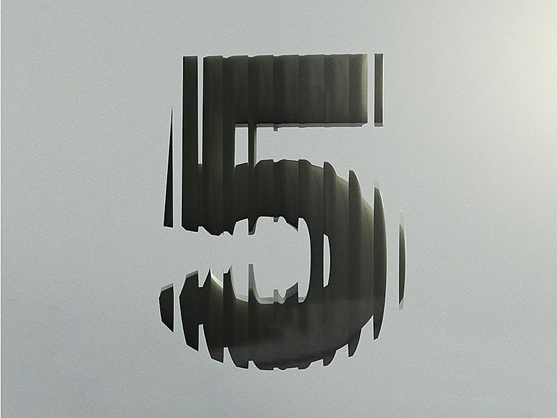 5 test five adobe dimension distortion glass 3d cgi black alphabet typography type