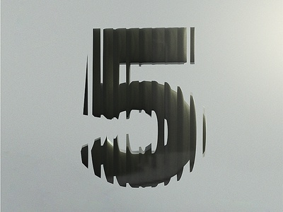 5 test five adobe dimension distortion glass 3d cgi black alphabet typography type
