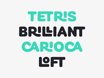 Cobbler Sans - Ligatures green ligatures logo white typeface font typography type
