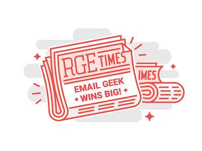 RGE Times illustration newsletter email
