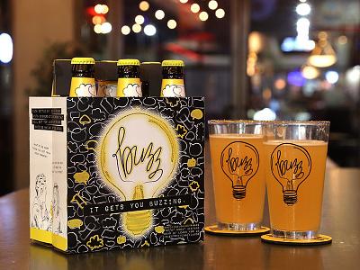 Buzz - Conversational Beer Brand light bulb alcohol buzzing buzz brewery conversation beer packaging packaging branding beer brand brand beer