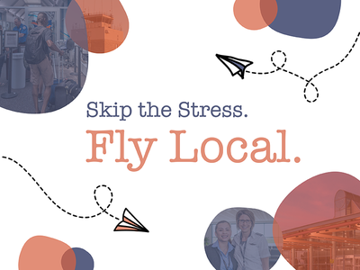Local Airport Campaign local fly plane paper planes flying airport branding