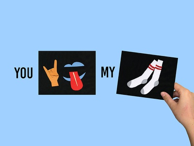 YOU ROCK MY SOCKS cards metaphor mixed media creative jam adobe paper collage socks rock