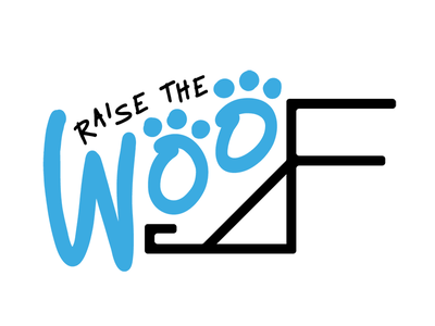 Raise the Woof Logo dog pets 3d printing logo
