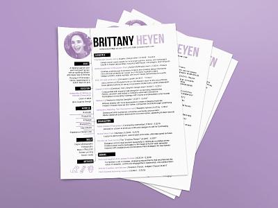 Personal Resume Design freelance hire me job organization icons layout professional resume