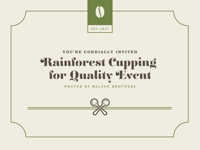 Rainforest Cupping For Quality Invite