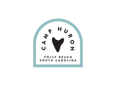 Feeling Campy clean design logodesign logo beach house south carolina folly beach shark logo shark tooth shark beach camp