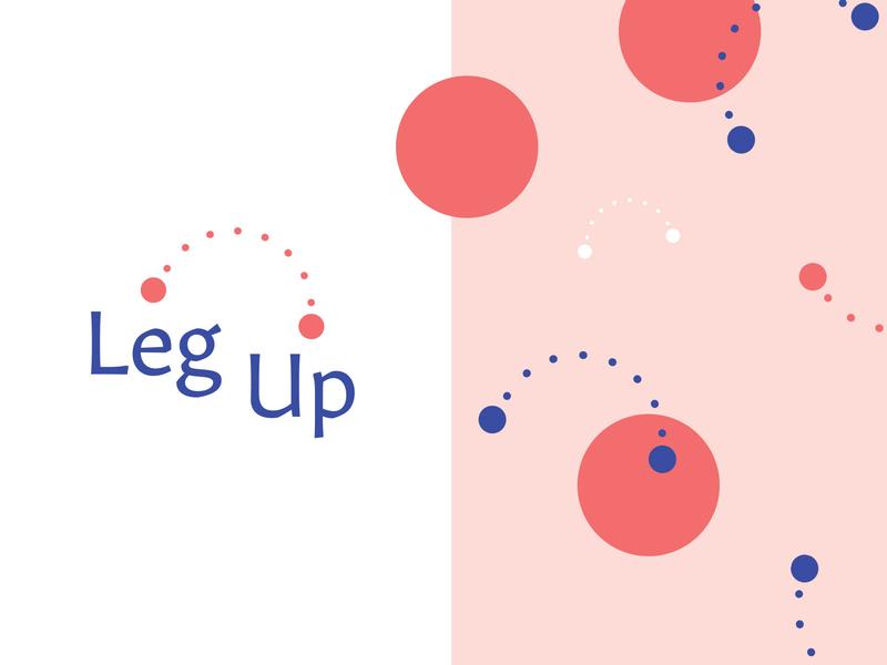 Leg Up wip brand circles leg up branding logos logo design logo