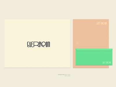 Everbloom logo festival music festival everbloom vector branding logo design typography burak beceren