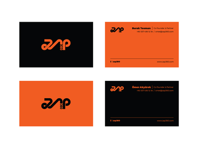 zap360 business cards identity typography logotype letter id zap360 vr graphic design emblem logo amblem