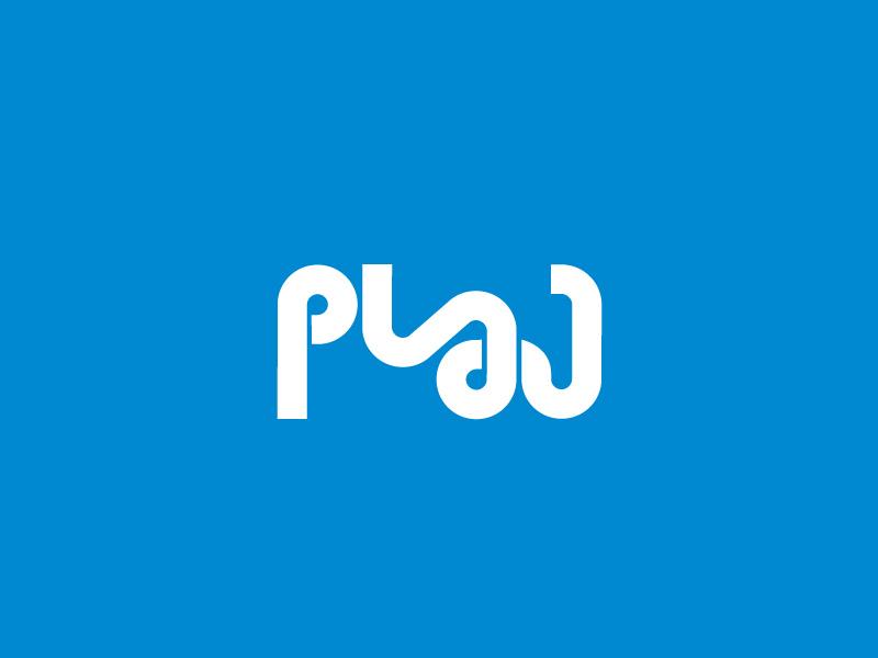 Plaj Logo 02 identity typography logotype letter id plaj music band band graphic design emblem logo amblem