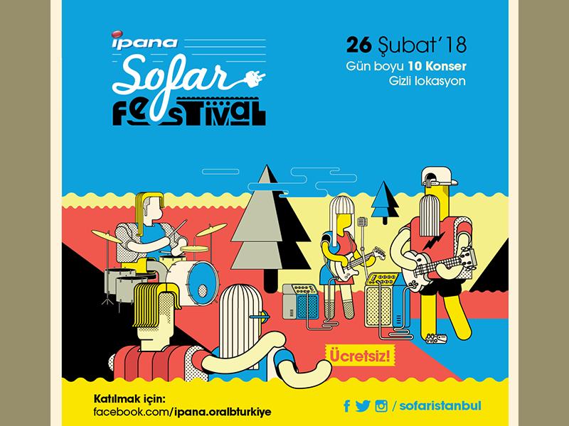 sofar festival 2018 burak beceren illustration graphic design vector character design design artwork drawing typography logo poster graphic branding