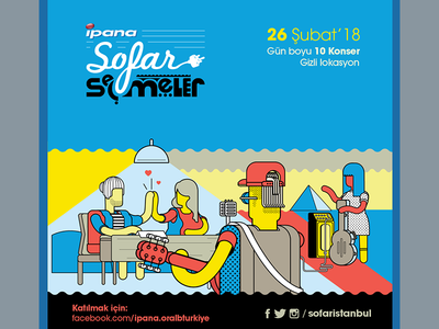sofar seçmeler 2018 tours auditions festival sofaristanbul sofar burak beceren illustration graphic design vector character design design artwork drawing typography logo poster graphic branding