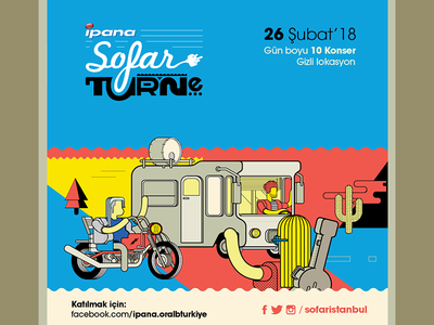 sofar turne 2018 tours auditions festival sofaristanbul sofar burak beceren illustration graphic design vector character design design artwork drawing typography logo poster graphic branding