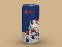 Audioban january beer can
