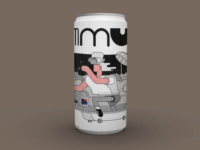 Audioban July beer can mockup