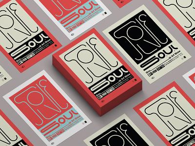 Solve SOUL posters exhibition london solve soul poster design poster branding flat typography design vector burak beceren graphic design