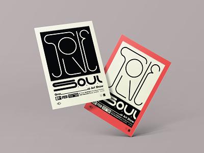 Solve SOUL posters vector typography solve soul poster design poster london graphic design flat exhibition design burak beceren branding