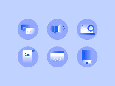Navigation Icons website design web design website icons branding illustration design