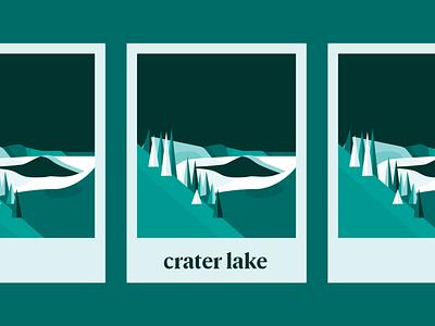 Crater Lake National Park national park crater lake national park crater lake poster design poster vector logo branding illustration design