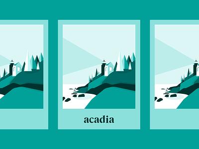 Acadia National Park acadia national park acadia national parks national park poster design poster vector logo branding illustration design