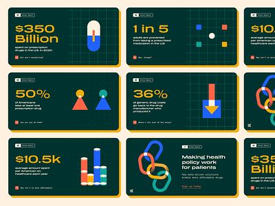 Annual report social ads charts data visualiztions data viz data patients health healthtech healthcare social media linkedin social ads social report annual report annual vector branding illustration design