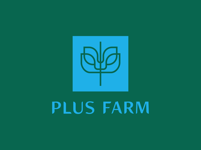 Plus Farm Logo Concept identity design branding brand design logo