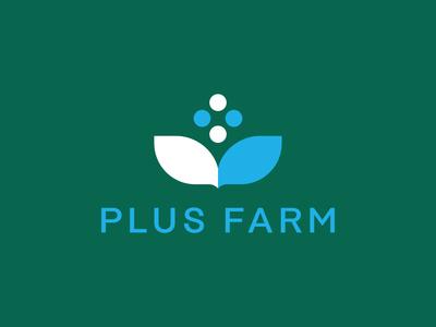 Plus Farm Logo Concept identity logo branding design