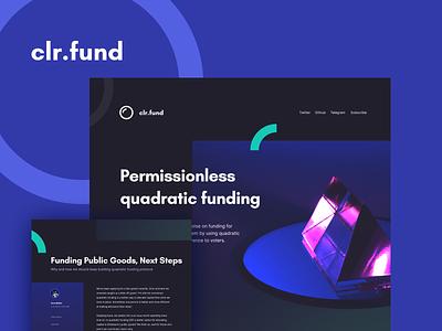 Brand Styleguide - clr.Fund branding banding design ethereum blockchain styleguide design logo