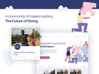 The Future of Giving - Giveth illustration cryptocurrency blockchain design landing page website app