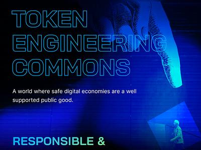 Token Engineering Website - Responsible blockchain design landing page website