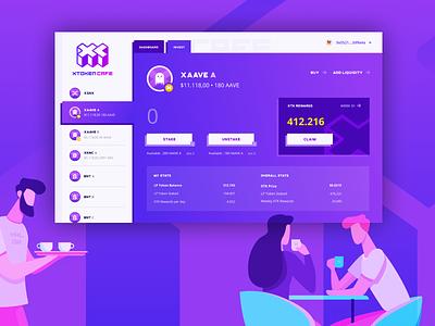 xToken Caffe Portfolio cryptocurrency blockchain app website