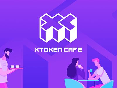 xToken Caffe Landing cryptocurrency blockchain landing page app website