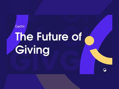 The Future of Giving altruism blockchain branding design brand identity future of giving