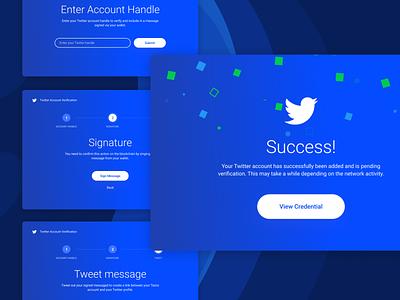 Tezos Profiles Add Credential Process tezos blockchain app website