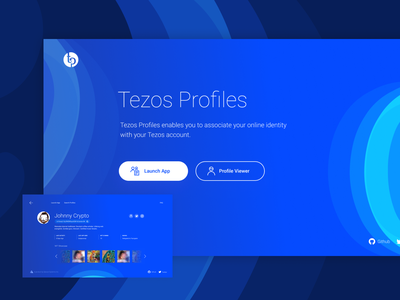 Tezos Profiles tezos blockchain app website